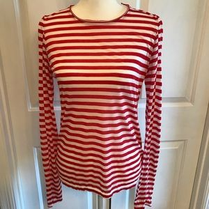 Rag and Bone Red and White Striped Top